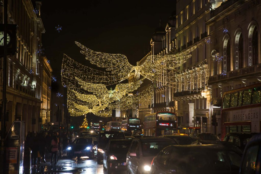 UK London Holiday Street Lights - Angels