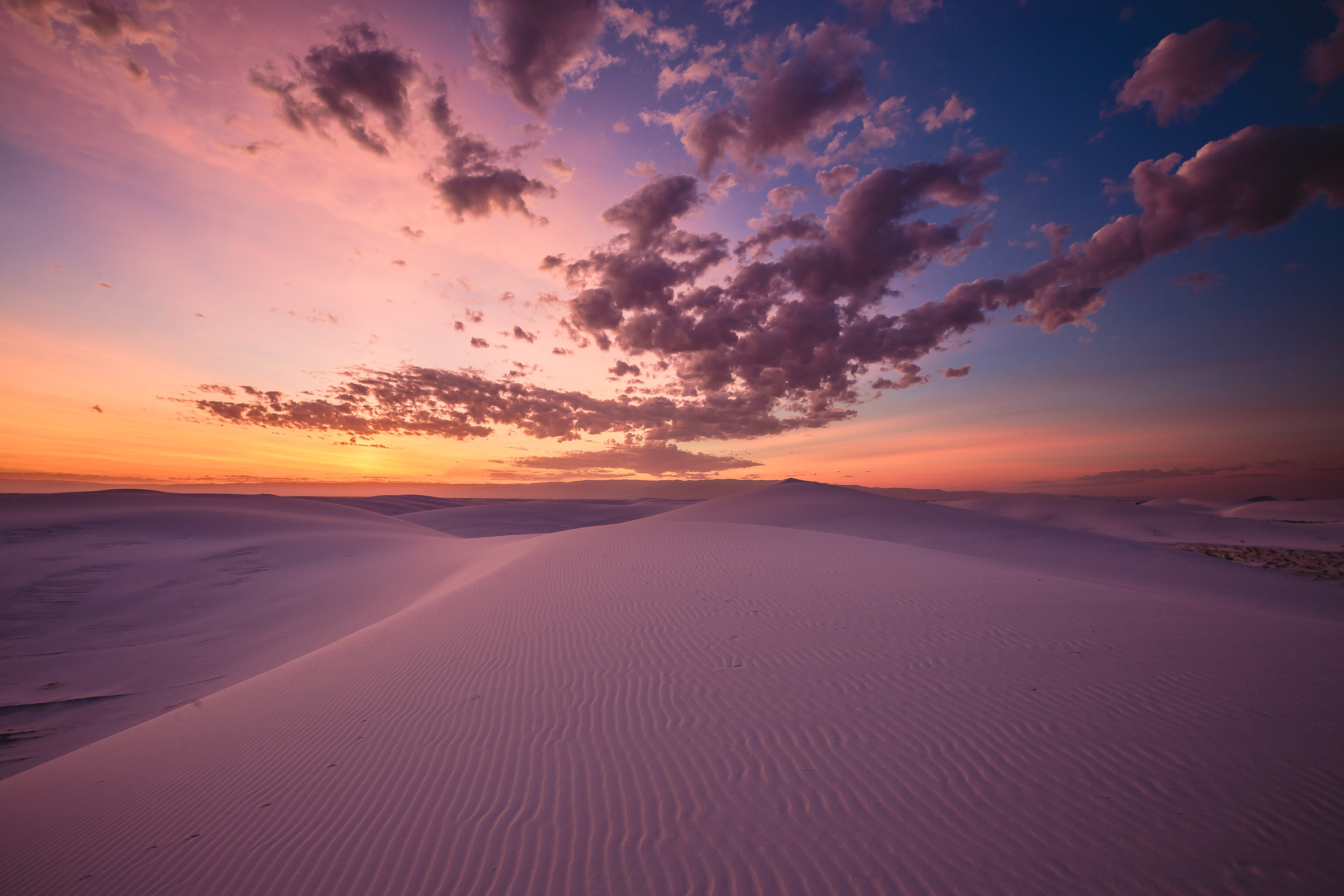 Ruidoso - New Mexico - Sunrise at White Sands