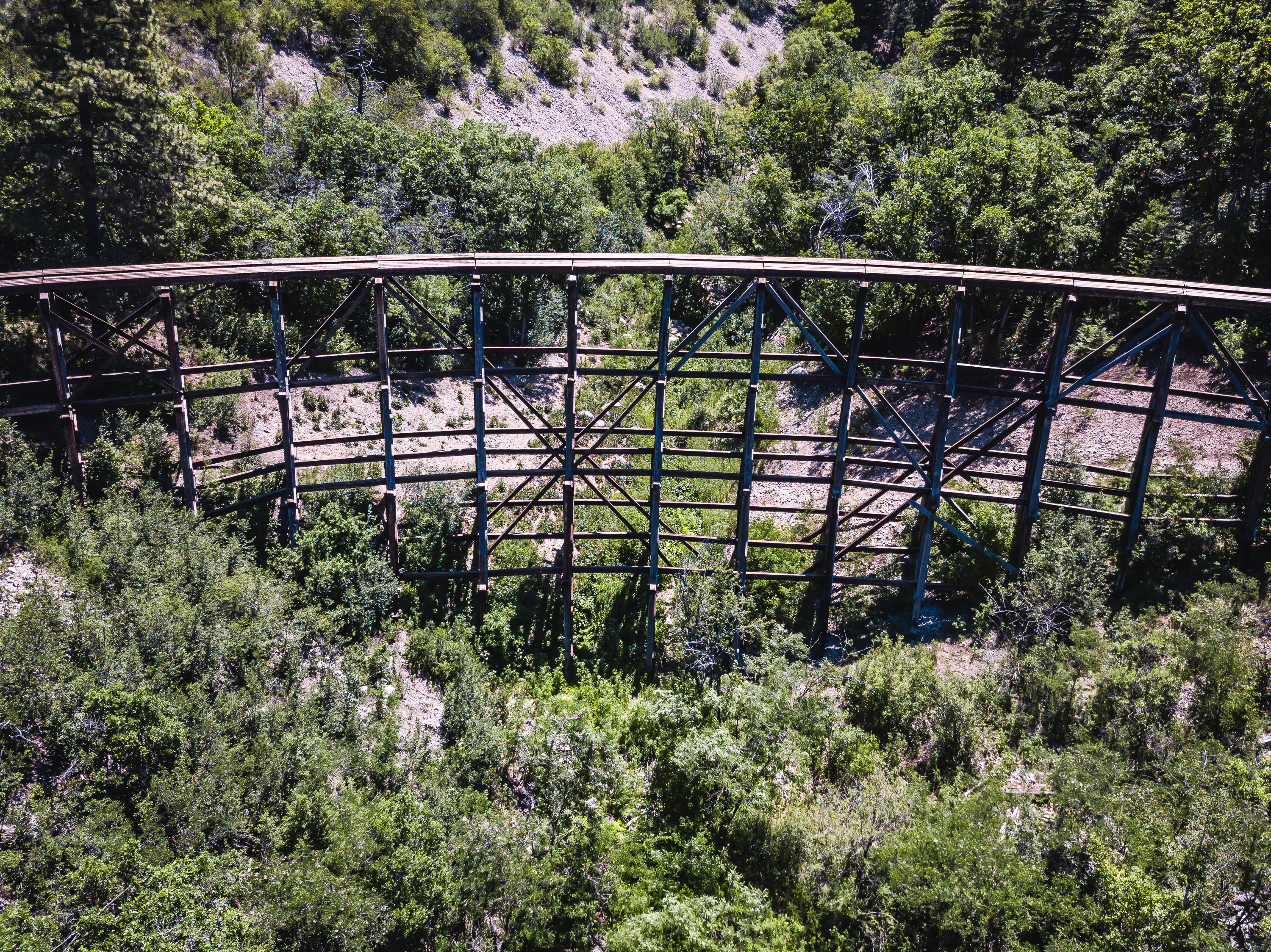 Ruidoso - New Mexico - Mexican Canyon Trestle by Drone