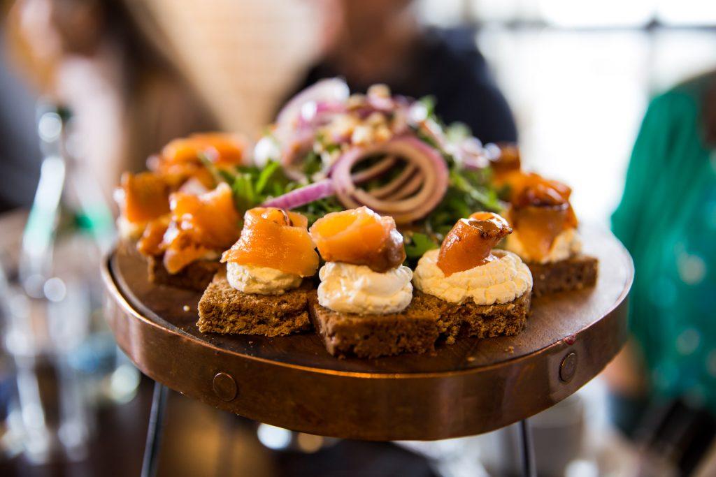 Guinness Storehouse - 1837 Restaurant - Salmon treats