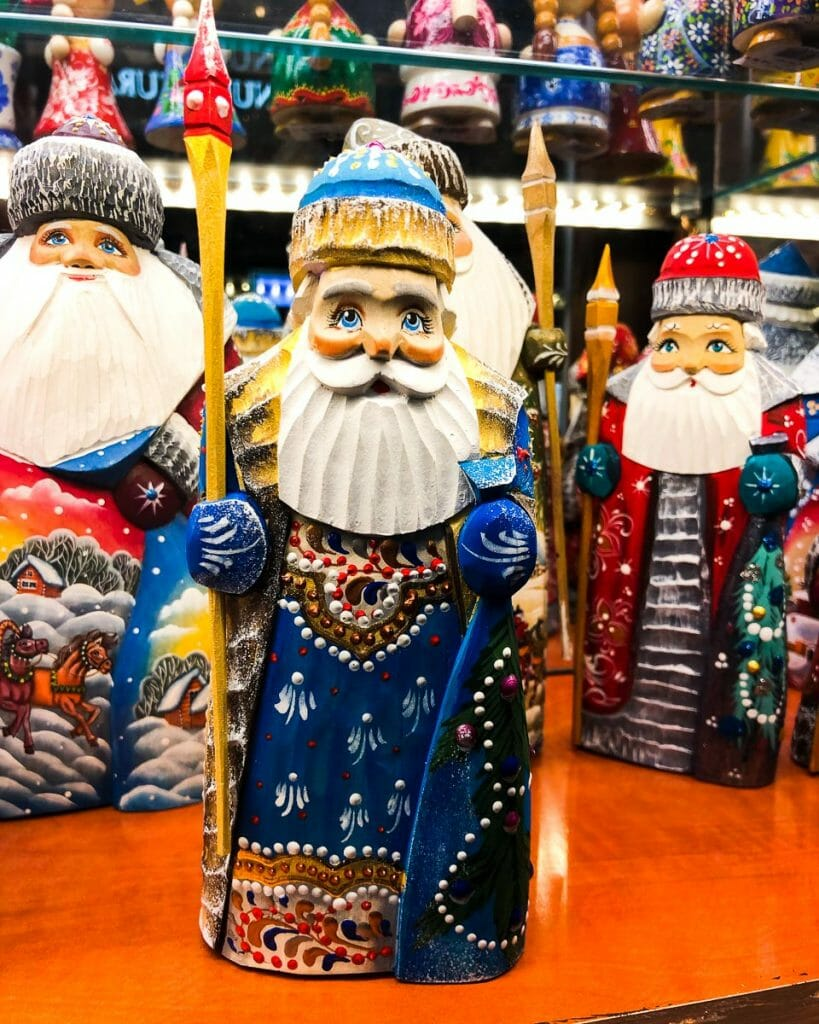Russian Wooden Carved Santa