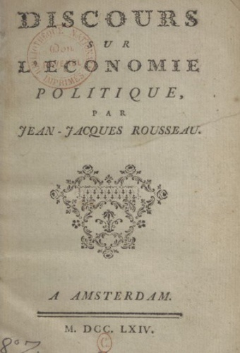 Discourse on political economy