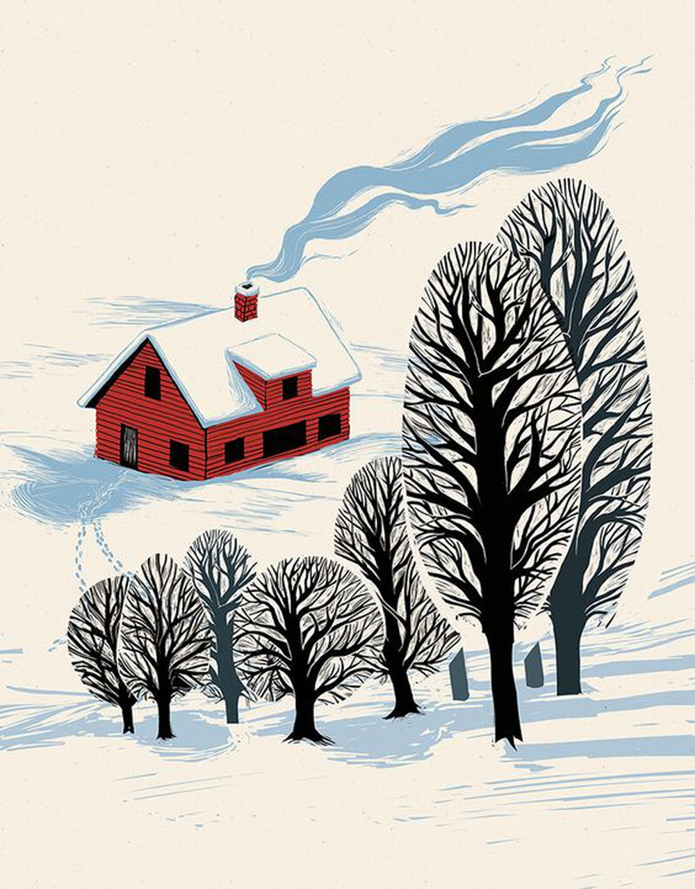 A pretty house makes winter more poetic, and winter increases the poetry of the dwelling