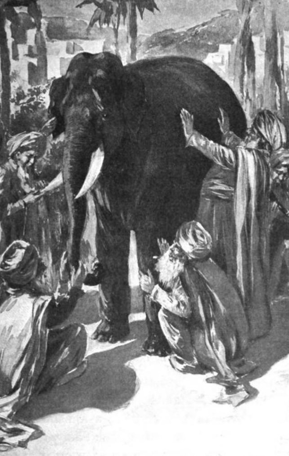 [The parable of blind men and an elephant] Humans have a tendency to claim absolute truth based on their limited, subjective experience