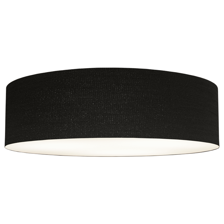 New Fabric Offering! Woven Black (Flush Mount + Pendant Options)