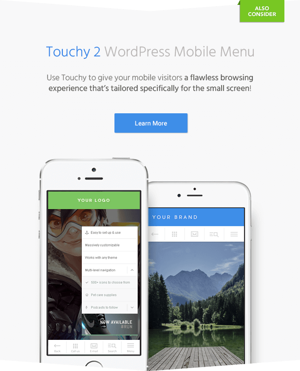 Touchy WordPress Menu