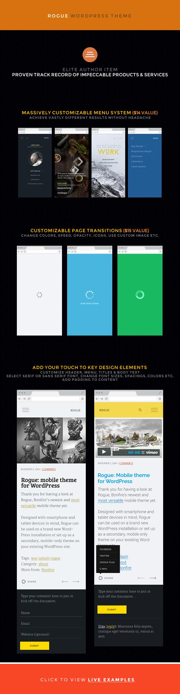 Rogue: Customizable Mobile Theme for WordPress - 4