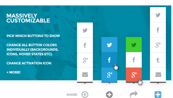 Social Share: WordPress social share button plugin 2