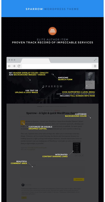 Sparrow: A Responsive WordPress Blog Theme - 4