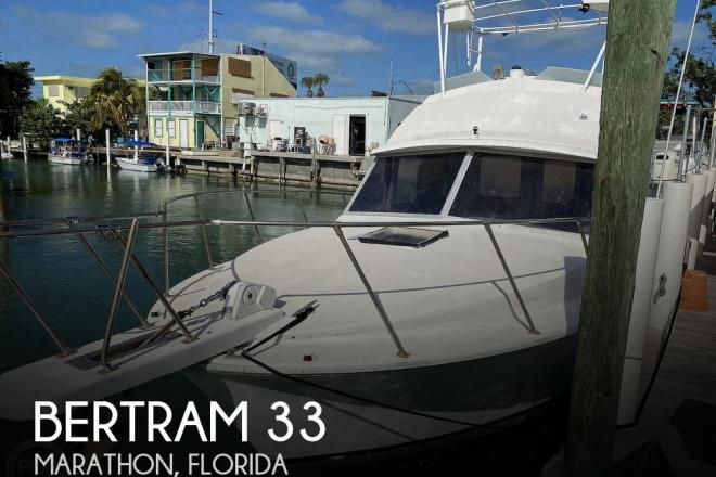 1977 Bertram 33 Flybridge Cruiser - For Sale at Marathon, FL 33050 - ID 31483