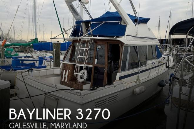 1987 Bayliner 3270 Motoryacht - For Sale at Galesville, MD 20765 - ID 203491