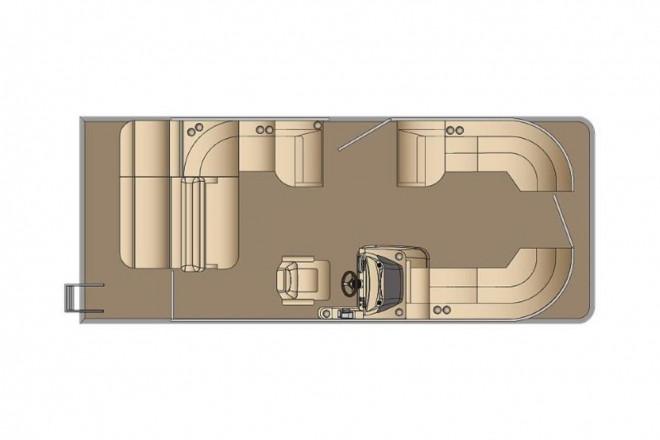 2021 Harris FloteBote Sunliner 230