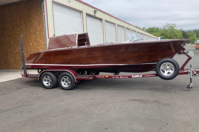 2002 Custom Built St. Clair Boatworks Mahogany Runabout
