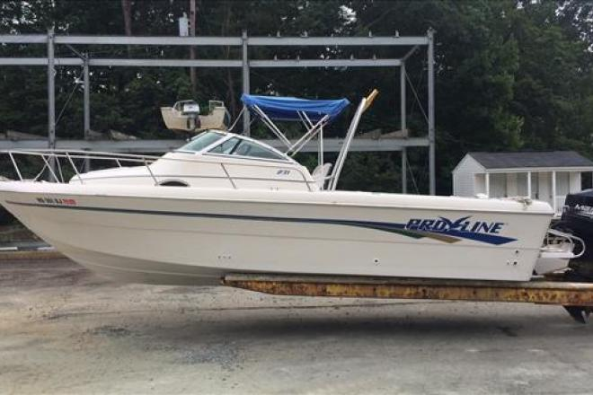 1997 pro line 231 23 foot 1997 pro line fishing boat in for Used fishing boats for sale in md