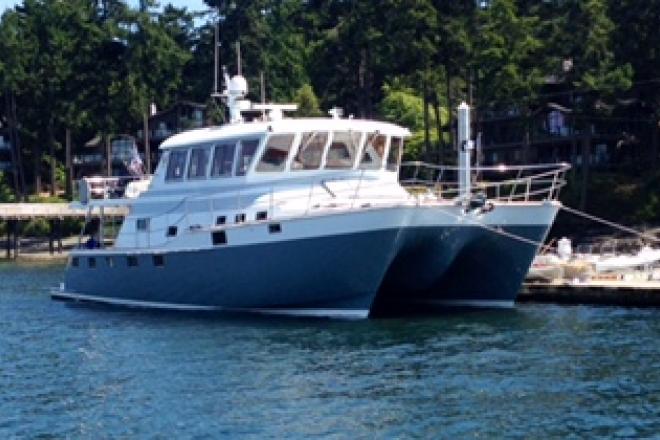 2005 Ted Hood power catamaran - For Sale at Roche Harbor, WA 98250 - ID 103526
