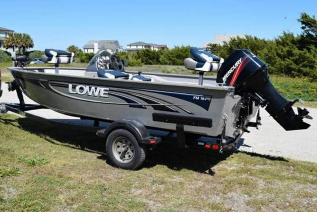 2008 lowe fm165 fish machine for sale at southport nc for Fishing boat dealers near me