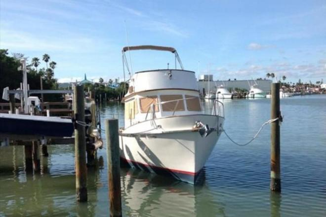 1978 cheoy lee pocket trawler 28 foot 1978 fishing boat for Fishing treasure island florida