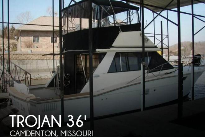 1973 Trojan F-36 Flybridge Cruiser Convertible - For Sale at Camdenton, MO 65020 - ID 98749