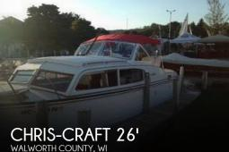 1957 Chris Craft Sea Skiff 26 Cabin Cruiser