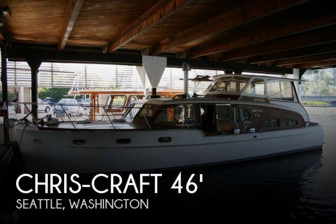 1949 Chris Craft 46 Double Cabin Flybridge - For Sale at Seattle, WA 98116 - ID 41634