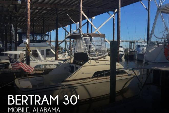 1984 Bertram 30 Flybridge Cruiser - For Sale at Coden, AL 36523 - ID 105678