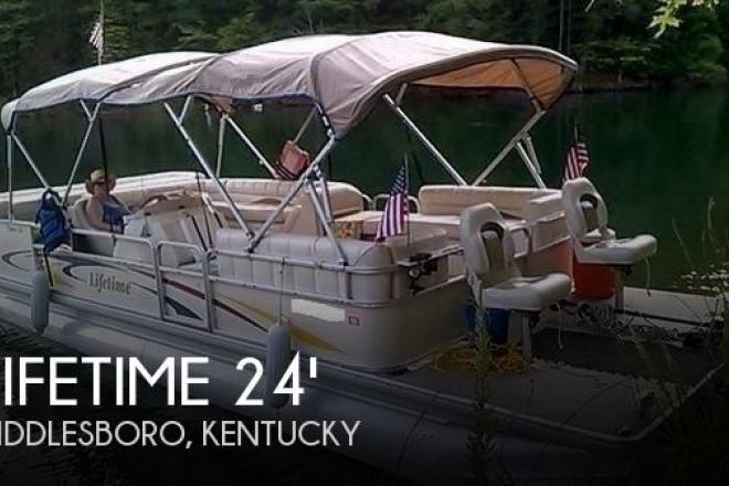 2007 Lifetime Fisher 240 DLX Pontoon - For Sale at Middlesboro, KY 40965 - ID 73658