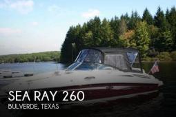 2009 Sea Ray 260