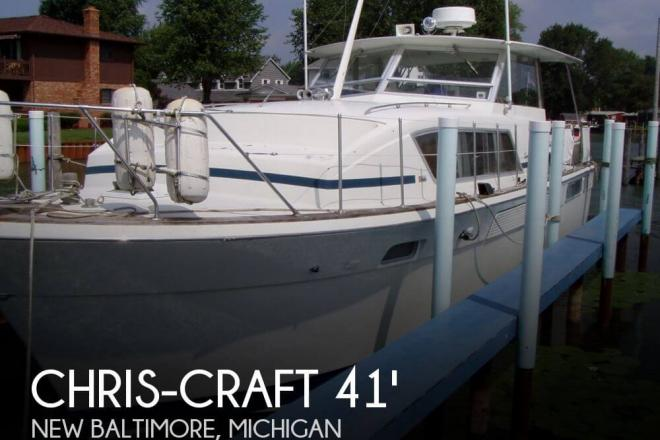 1972 Chris Craft 41 Commander - For Sale at New Baltimore, MI 48047 - ID 33402