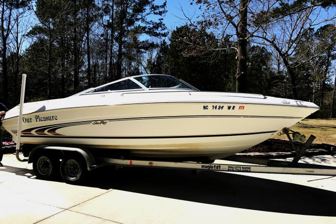 1997 sea ray 210 bowrider 21 foot 1997 motor boat in for Bowrider boats with outboard motors
