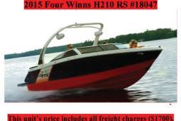 2015 Four Winns H210RS