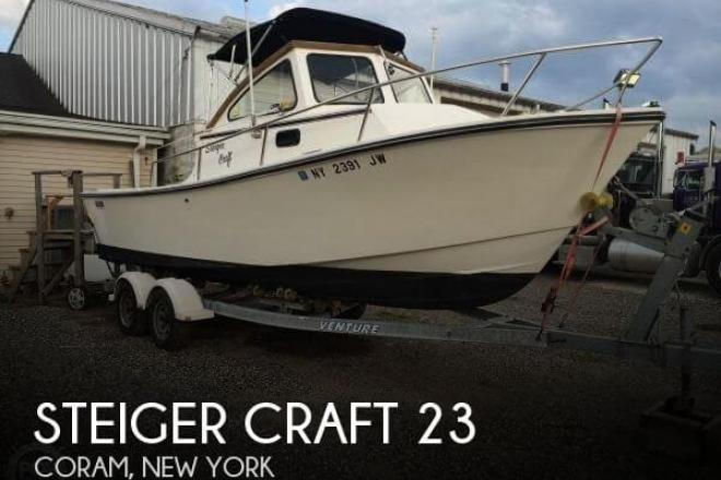 1989 steiger craft block island 23 23 foot 1989 fishing for Used steiger craft for sale