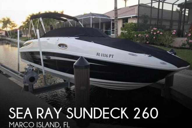 2014 Sea Ray Sundeck 260 - For Sale at Marco Island, FL 34145 - ID 142670