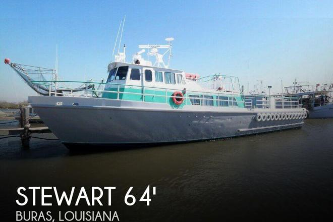 1963 Stewart Seacraft 64 Crew Boat with 2013 engines - For Sale at Buras, LA 70041 - ID 65655