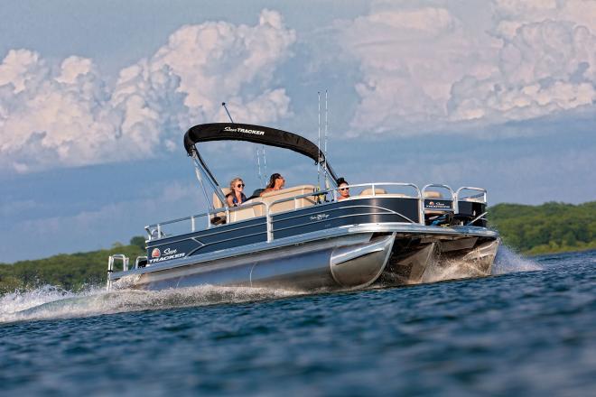 2020 Sun Tracker FISHIN BARGE® 24 XP3, Trailer, 150HP - For Sale at Marrero, LA 70072 - ID 150825