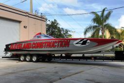 2008 Skater Super Cat 388 Canopied Race Boat