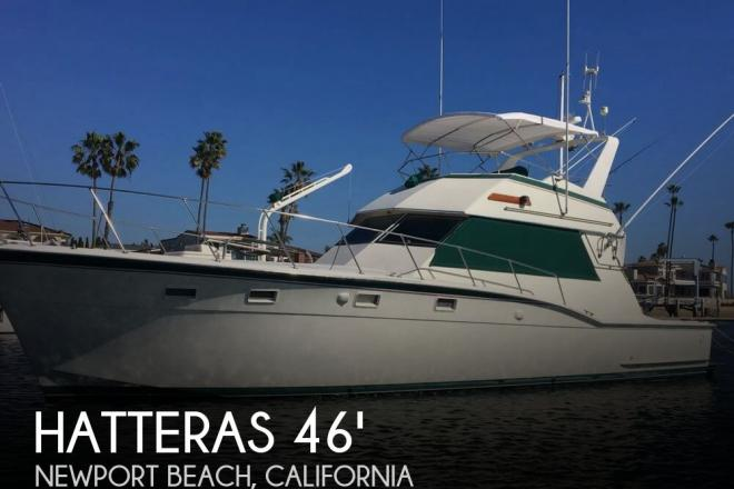 1982 Hatteras 46 Convertible - For Sale at Newport Beach, CA 92658 - ID 157765