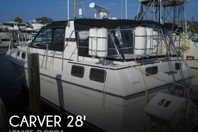 1986 Carver Riviera 28 Aft Cabin - For Sale at Venice, FL 34284 - ID 155574