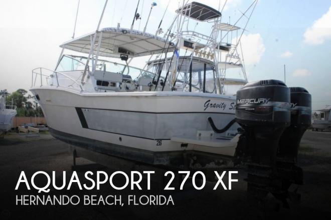 1986 Aquasport 270 XF - For Sale at Hernando Beach, FL 34607 - ID 152341