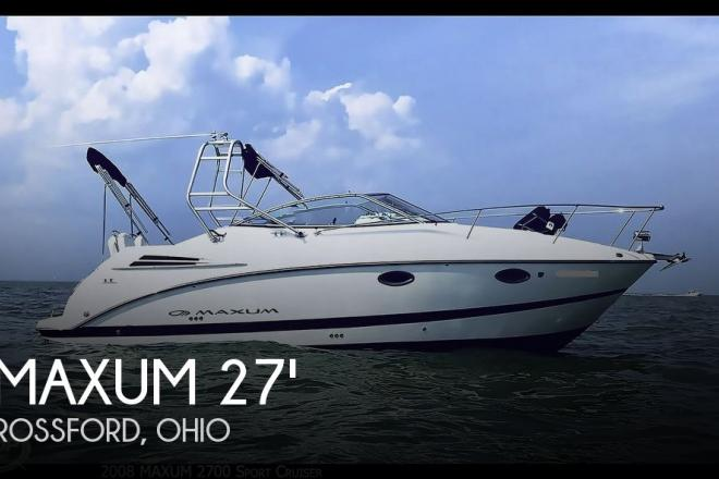 2008 Maxum 2700 Sport Cruiser - For Sale at Rossford, OH 43460 - ID 167782