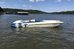 2003 Eliminator Daytona 26 ICC.      With custom aluminum trailer.
