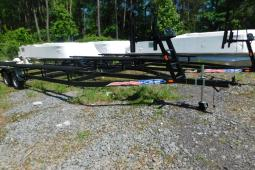 2019 Mid-America Trailer 24ft Pontoon Trailer with Brakes