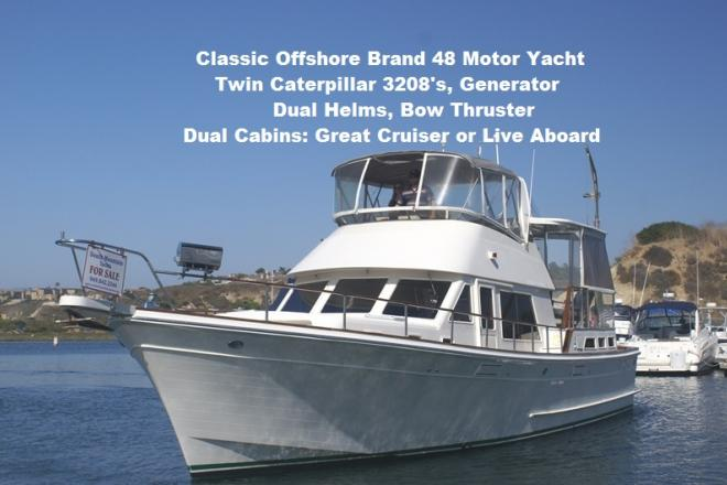 1990 Offshore 48 YachtFisher - For Sale at Newport Beach, CA 92657 - ID 167566