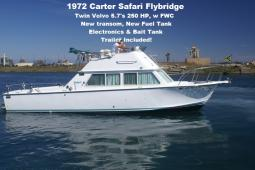 1972 Safari 28 Flybridge