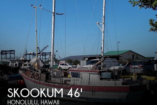 1975 Skookum Commercial Sail Fishing Boat - For Sale at Honolulu, HI 96817 - ID 95521