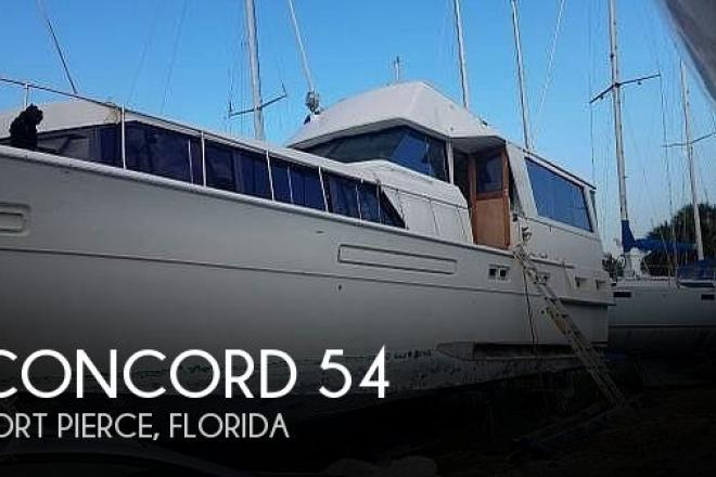 1974 Concord 54 Pilot House - For Sale at Fort Pierce, FL 34946 - ID 185076