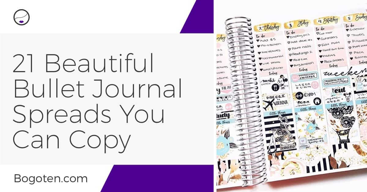 Bullet Journal Spreads: 21 Beautiful Bullet Journal Ideas You Can Copy