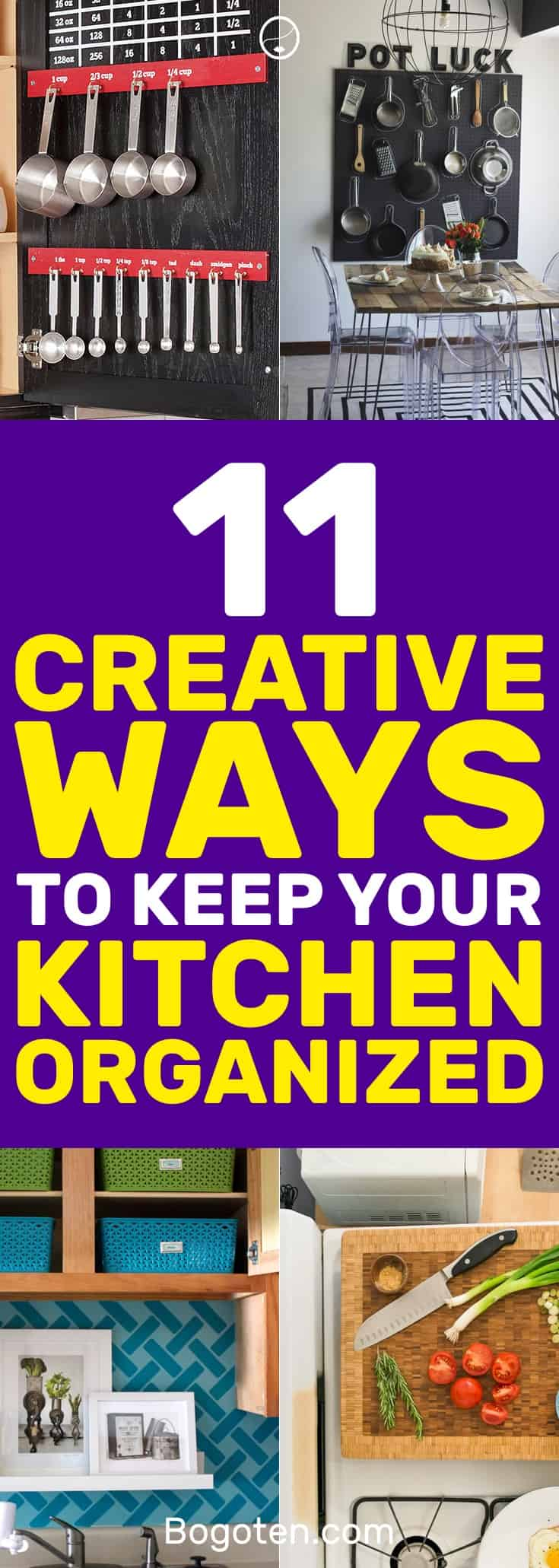 I love these DIY hacks to keep my kitchen organized. Definitely pinning for later. #DIY #Organization