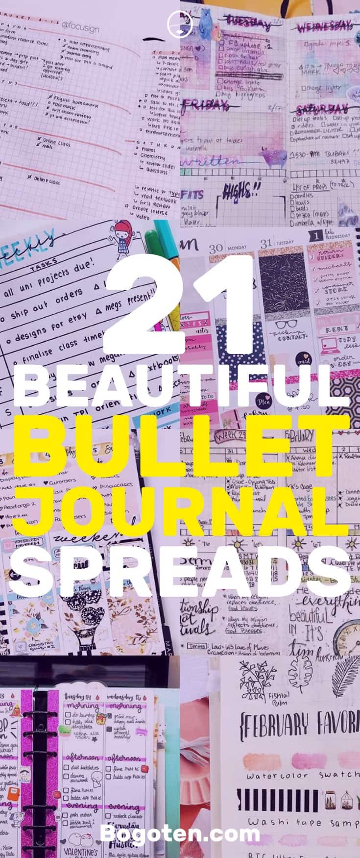 Here are 25 beautiful bullet journal spreads that you can use for inspiration.