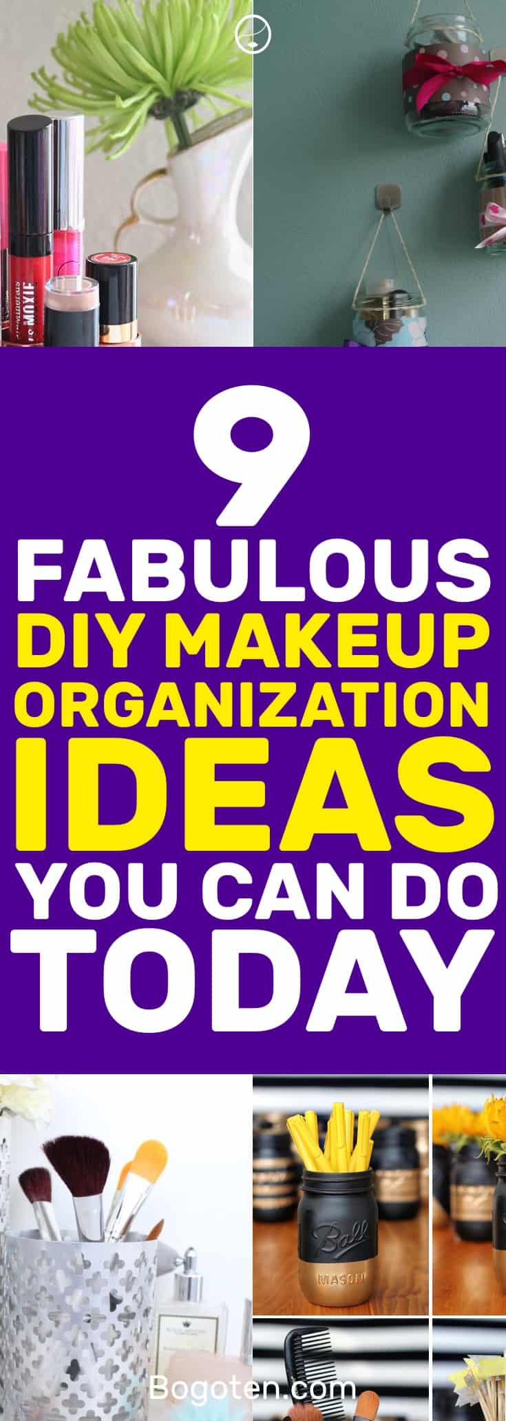Ready to organize your makeup? These DIY makeup organization tips will get everything in the right place. #DIY #Makeup