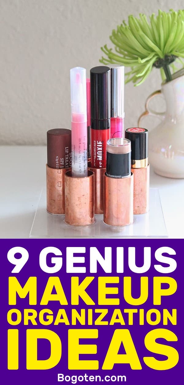Ready to organize your makeup? These DIY makeup organization tips will get everything in the right place.